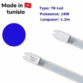 afroled Tube Led T8 - Bleu - 18W - 1.2M