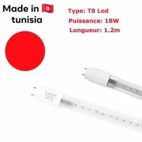 afroled Tube Led T8 - Rouge - 18W - 1.2M