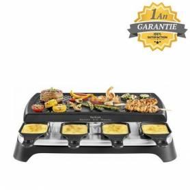 Tefal Raclette 3 en 1 - Raclette grill plancha - RE459801 - 1100W - Garantie 1 an
