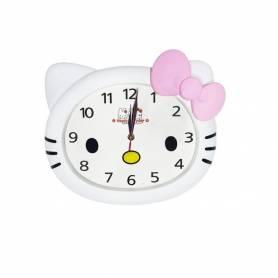 Horloge Mural - KITTY -Chambre enfant - Blanc