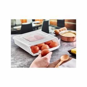 Boîte à œufs à roulettes automatique 15 conteneurs d'oeufs 260*230*68mm