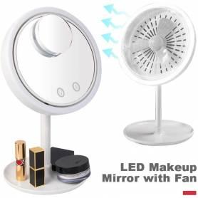 Miroir De Maquillage avec Lumière et ventilateur intégré