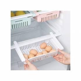 Panier de rangement extensible pour réfrigérateur Blanc 38.5*19*8CM