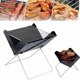 Barbecue portable pliable - Acier à charbon