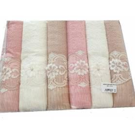 Lot de 6 serviettes 140 x 70
