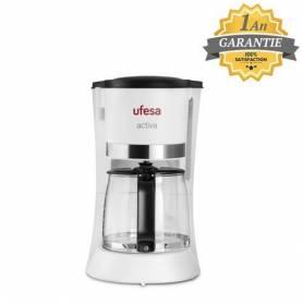 Ufesa Cafetière Electrique - 10 tasses - 800W - CG7123 - Blanc - Garantie 1 An
