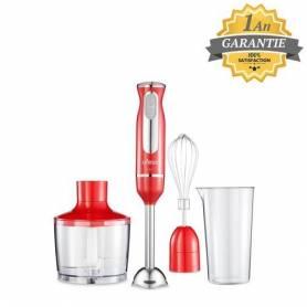 Ufesa Mixeur Plongeant - 3en1 - BP3443 - Rouge - 600W - Garantie 1 An