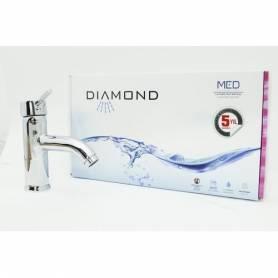 Diamond Mitigeur De Lavabo - Inox - ANKARA - Garantie 5 Ans