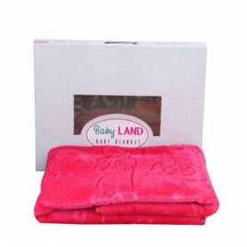 Baby Land Couverture Bébé - Ultra Douce - 94cmX110cm - Rose - Fille