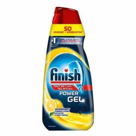 Finish Gel Dégraissant - Lave-Vaisselle - Tout en 1 Max - Citron - Jusqu'au 50 Lavages - 1L