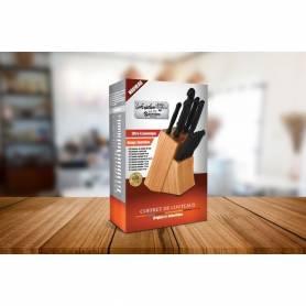 Pack Aid GRILLE VIANDE RUSSELL HOBBS 19800-56 + Sekkinox Coffret De Couteaux de Cuisine