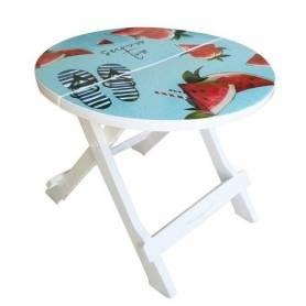 Sofpince Table Pliable - DECOR - Blanc