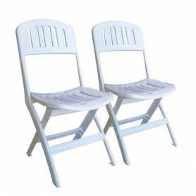 Sofpince Lot de 2 Chaises Pliable - Seichelle - Blanc