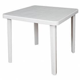 Sofpince Table Carré En Plastique - Pour intérieur/extérieur - Blanc