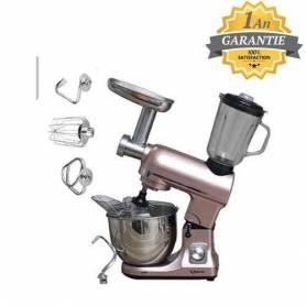 Topmatic Robot de Cuisine Multifonctions - 3en1 - 1800W - Made in Germany- champagne rosé - Garantie 1 An