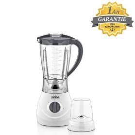 Sinbo Blender avec Moulin - 1.5 L - Blanc - SHB-3056 - Garantie 1 An