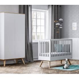 Chambre bébé svizzera-Lit-Commode-Armoire