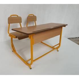 Table scolaire  avec 2 chaises intégrée