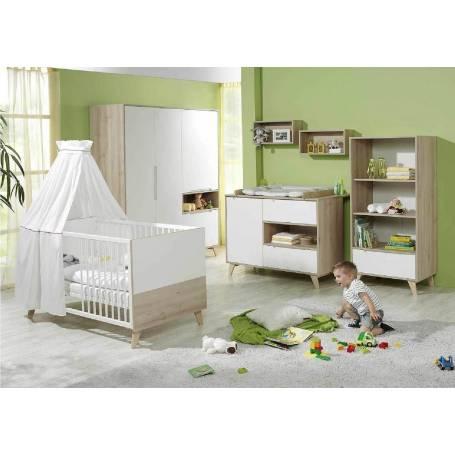 Chambre bébé le Prince - Blanc& Chêne