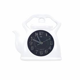 Horloge Mural - Blanc - Forme  théière - 23 X 22 Cm