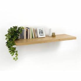 Etagere murale a fixation invisibe chene clair