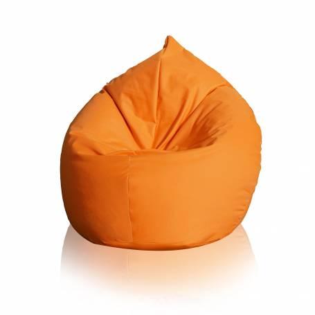 Pouf Poire Pacha XXL : 80cm x 130cm - Orange