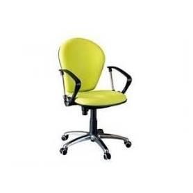 Chaise enfant jaune avec accoudoirs