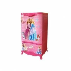 Armoire en plastique - 2 Portes +1 casier - Rose-102*60*43cm