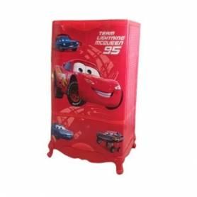Sofpince Armoire en plastique - 2 Portes +1 casier - Rouge-102*60*43cm