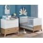 Chambre bébé Archipel - Chêne et blanc
