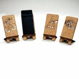 Support Téléphone Portable  en Bois