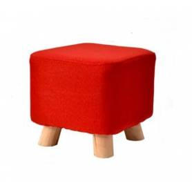 Pouf avec pochette - Rouge - 40*40cm