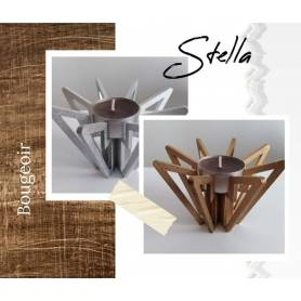 Bougeoir en bois STELLA (avec découpe)