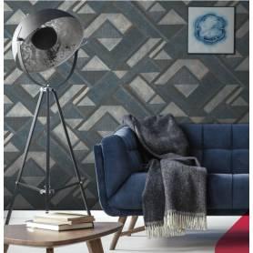 Papier Peint géométrique bleu 20510-6