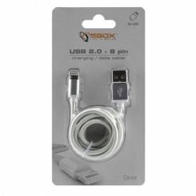 Sbox Câble USB Compatible avec iPhone 7 M/M 1.5M - IPH7-S - Silver