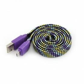 Sbox Câble micro USB M/M - 1M - Colorfull blister - USB-103CF- Violet
