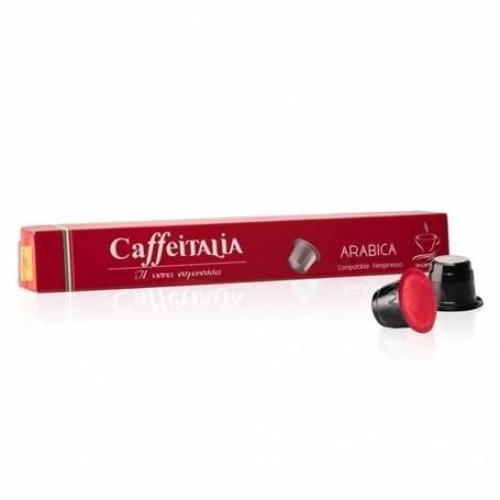 CAFFEITALIA ARABICA - Paquet de 10 capsules compatibles Nespresso