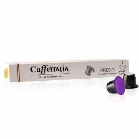 CAFFEITALIA PREGIO– Paquet de 10 Capsules de Café compatibles Nespresso