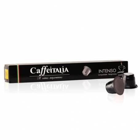 CAFFEITALIA INTENSO– Paquet de 10 Capsules compatibles Nespresso
