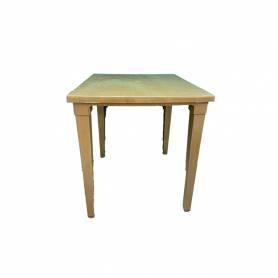 Sofpince Table Carré En Plastique - Pour intérieur/extérieur caramel -80*80*74cm