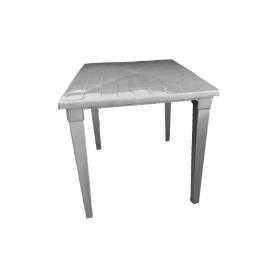 Sofpince Table Carré En Plastique - Pour intérieur/extérieur gris-80*80*74cm