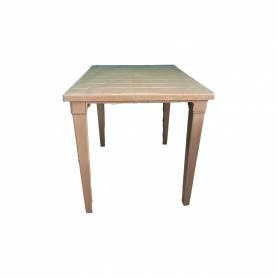 Sofpince Table Carré En Plastique - Pour intérieur/extérieur light taupe-80*80*74cm