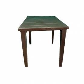 Sofpince Table Carré En Plastique - Pour intérieur/extérieur marron-80*80*74cm