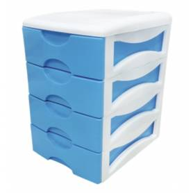Smart box - 4 etages - bleu - 29*19*26 cm