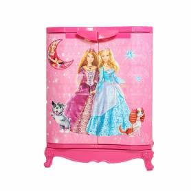 Sofpince Armoire en plastique - Disney - 2 Portes - Barbie 80x60x40cm