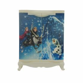 Sofpince Armoire en plastique - Disney - 2 Portes - Frozen - 80x60x40cm