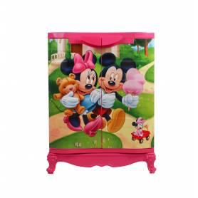 Sofpince Armoire en plastique - Disney - 2 Portes - Mickey - 80x60x40cm