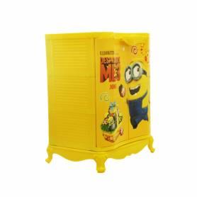 Sofpince Armoire en plastique - Disney - 2 Portes - Minion - 80x60x40cm