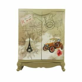 Sofpince Armoire en plastique - Disney - 2 Portes - Paris - 80x60x40cm