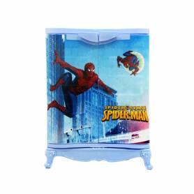 Sofpince Armoire en plastique - Disney - 2 Portes - Spider Man - 80x60x40cm